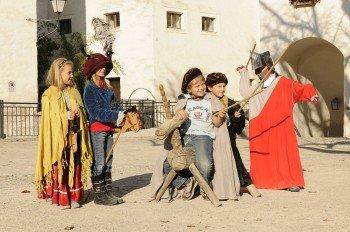 Für Kinder gibt es auf der Burg ein großes Unterhaltungsangebot.