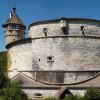 Die 25 Meter hohe, kreisförmige Festungsmauer wurde im 16. Jahrhundert errichtet.