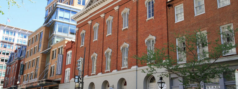 Aussenansicht des Ford's Theatre in Washington D.C.