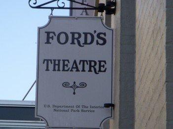 Das Schild am Ford's Theatre