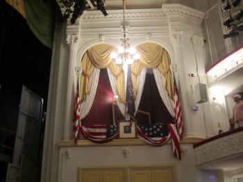 Die Präsidentenbox im Ford's Theatre