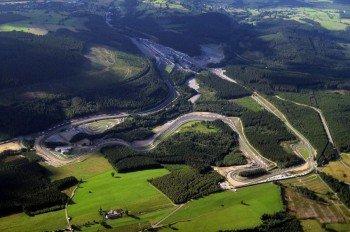 Luftbild der Strecke im Juni 2008