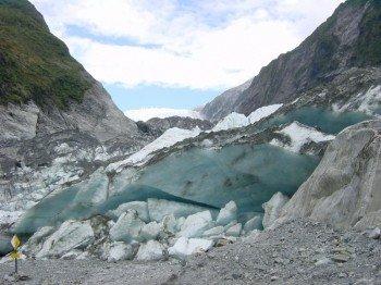 Blaues Gletschereis.