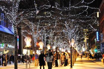 Die 16th Street Mall ist auch im Winter immer einen Besuch wert: Über 200 beleuchtete Bäume sorgen für eine gemütliche Atmosphäre.
