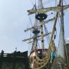 """In der Piratenstadt befinden sich mehrere Restaurants, von denen aus du eine tolle Aussicht auf den """"Hafen"""" hast."""