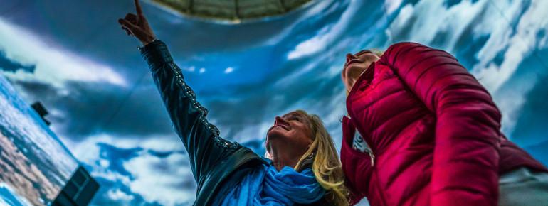 Im Visiodrom befindet sich die größte 360°-Leinwand Europas.