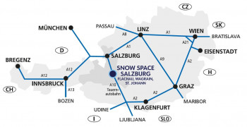 Anfahrt zum Geisterberg in St. Johann - Alpendorf