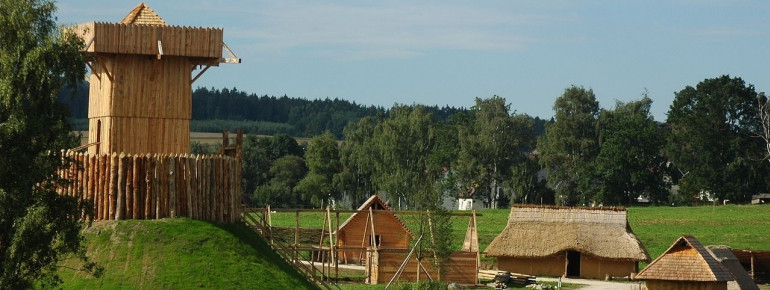 Das slawische Dorf aus dem Frühmittelalter