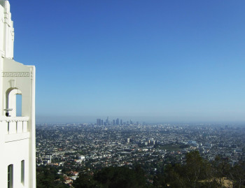 Blick vom Griffith Observatory auf Los Angeles