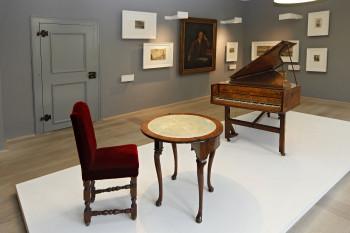 """Rund 160 Exponate wie Gemälde, Stiche und Musikinstrumente kann man in der Ausstellung """"Händel-der Europäer"""" bestaunen."""