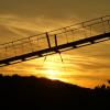 Sonnenuntergang an der Hängebrücke Geierlay