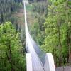 Der Laufsteg besteht aus Douglasie sägeroh und wurde auf den, im Abstand von 1,50 m montierten, Hängerkonstruktionen verschraubt.