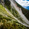 Insgesamt 494 Meter Länge misst die neue Brücke in der Schweiz: Weltrekord bei der Eröffnung.