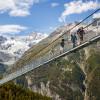 Die Brücke ist Teil des Europa-Wanderweges zwischen Grächen und Zermatt.