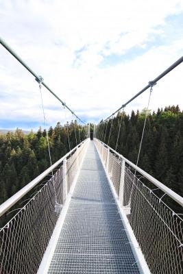 Die Brücke ist 1,20 Meter breit.