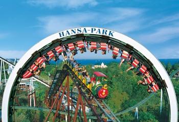"""""""Nessie"""" und der """"Rasende Roland"""" blicken auf eine lange Zeit im Hansa-Park zurück."""