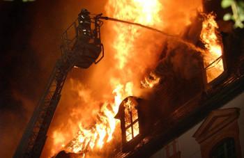 Opfer der Flammen wurde die Bibliothek am 2. September 2004.
