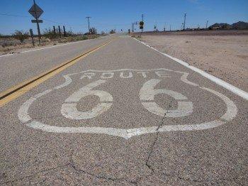 Historic Route 66 Zeichen
