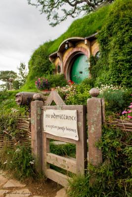 Hier leben die berühmtesten aller Hobbits: Bilbo und Frodo Beutlin