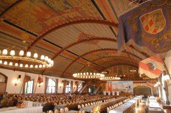 Der imposante Festsaal im Münchner Hofbräuhaus