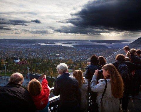 Blick von der Aussichtsplattform über Oslo