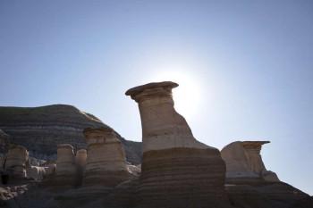 Die Säulen werden meist durch Wind geformt