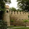 Grüner Teil der alten Stadt