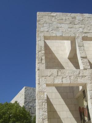 Die Architektur des Getty Museum besicht durch das auffällige Travertin-Gestein