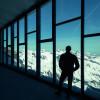 Eine traumhafte Aussicht auf die Ötztaler Alpen genießt du von der großen Fensterfront der Erlebniswelt.