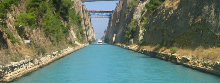 Die Durchfahrt durch den Kanal