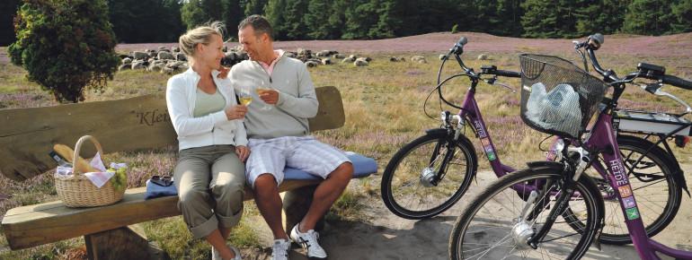 Die Klein Bünstorfer Heide eignet sich auch perfekt für ein Picknick auf den Bänken.