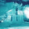 Märchenhafte Eisskulpturen