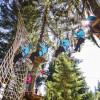 Schwinge dich vom Baum bis zum Netz. Ob es so leicht ist, wie es aussieht, kannst du im Kletterwald Söllereck selbst probieren.