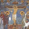 Meisterhafte Wandmalereien schmücken das Innere des Klosters.