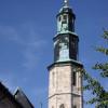 Glockenturm der Kornmarktkirche in Mühlhausen.