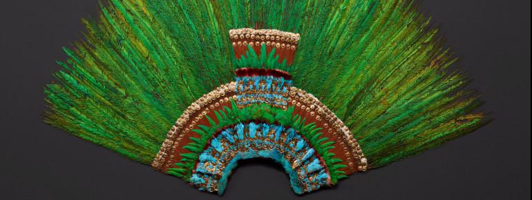 Federkopfschmuck, Mexiko, Azteken, frühes 16. Jahrhundert