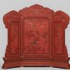 Dreiteiliger Thron-Stellschirm, Qing-Dynastie, China, Qianlong-Periode (1736-1795)