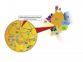 Anfahrt zum Legoland Deutschland