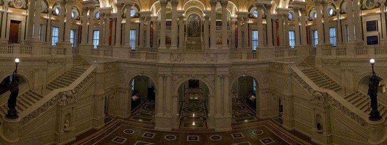 Der Eingangsbereich des Thomas Jefferson Buildings