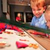 Die historischen Ausstellungsstücke begeistern auch die Kleinen
