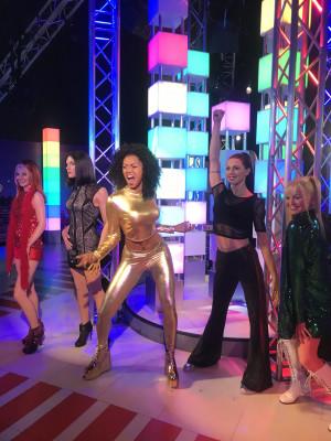 Die Spice Girls rocken die Bühme in Madame Tussauds am Times Square.