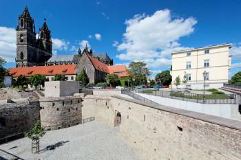 Die Bastion Cleve ist der südöstliche Abschluss der ehemaligen Festung Magdeburg.