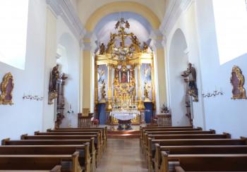 Der goldene Hochaltar mit dem berühmten Marienbild