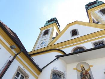 Die barocke Wallfahrtskirche war im 17. Jahrhundert ein wichtiges Pilgerziel