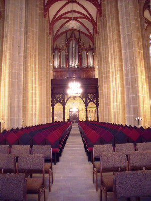 Innenansicht der Marienkirche in Mühlhausen