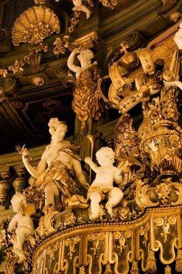 In der Fürstenloge wurde viel Wert auf Details gelegt.
