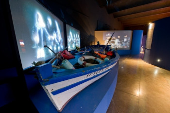 U.a. sind nautische Karten und die Simulation eines Sturms am Kap Hoorn ausgestellt.