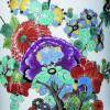 """Meißener Vase mit """"indianischen"""" Blumen (Detail) Meißen, um 1735-1739"""