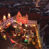 Die Meißner Weihnacht findet am historischen Marktplatz vor dem Rathaus statt.