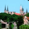 Das Schloss im Stil der Renaissance war Königspfalz, Bischofssitz und Herzogsresidenz.